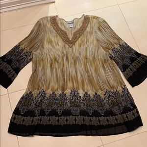 Gorgeous Boho Catherine's Tunic w/ Bell Sleeves 4X